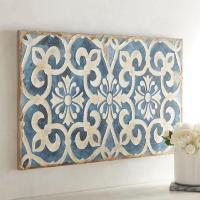 Geometric Indigo Tile Wall Art
