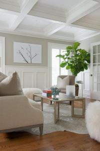 Living Room Tall Wainscoting Design Ideas