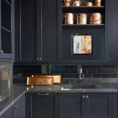 Kitchen Tiles Size Designs Of Small Modular Black Marble With Butler Pantry Cabinets ...