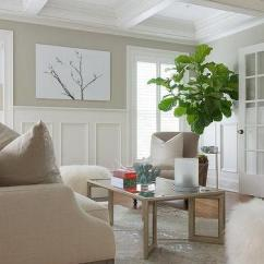Wainscoting Ideas For Living Room Table With Drawers Design White And Tan Tall
