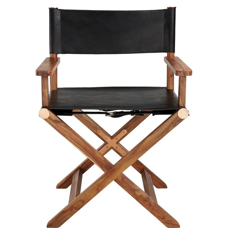 leather directors chair ikea clear chairs curator black