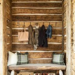 Rustic Living Rooms Country Cottage Style Room Under Stairs Bench - Jennifer ...