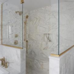 Window Treatments For Kitchen Marble Top Round Table Long Shower Bench - Transitional Bathroom