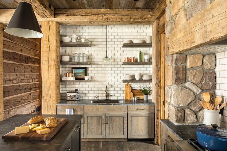 Rustic Stone Kitchen Hood