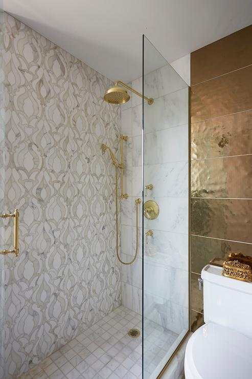 Gold Tiles on Bath Walls  Contemporary  Bathroom