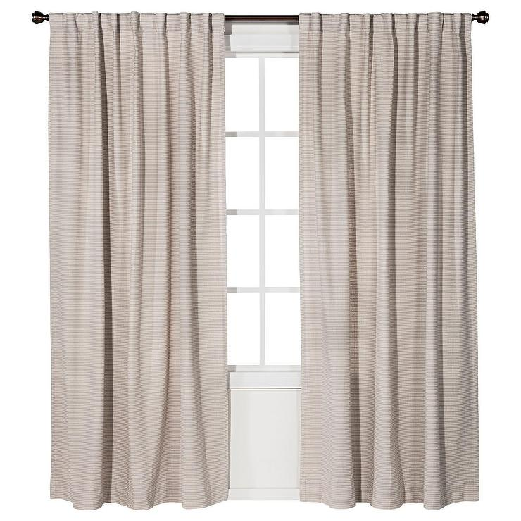 Brown Linen Pleated Single Curtain Panel