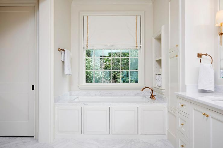 Wainscoting Panels on Bathtub  Transitional  Bathroom