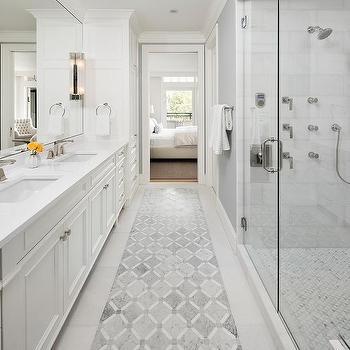 shower diamond inlay tiles design ideas