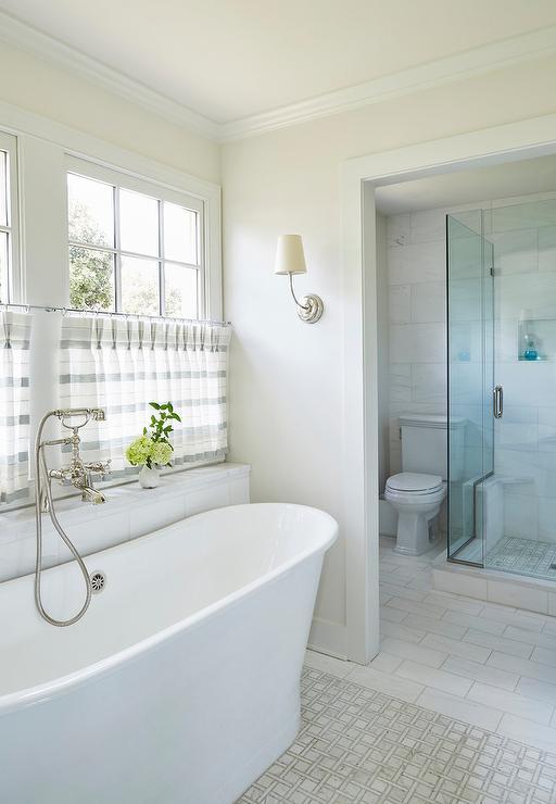 Long Niche Over Bathtub  Transitional  Bathroom