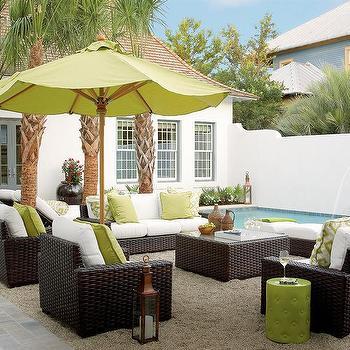 lime green outdoor umbrella design ideas