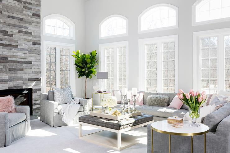 color schemes for living room with gray furniture lighting fixtures ceiling pink and scheme transitional
