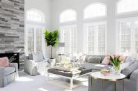 Pink And Gray Living Room Concept Design Ideas