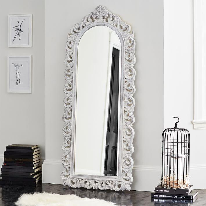 Cornerstone Floor Mirror in White