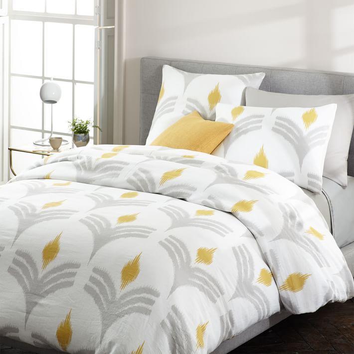 chair covers bristol and bath white fuzzy rolling organic cotton mandala ikat duvet cover + shams - west elm