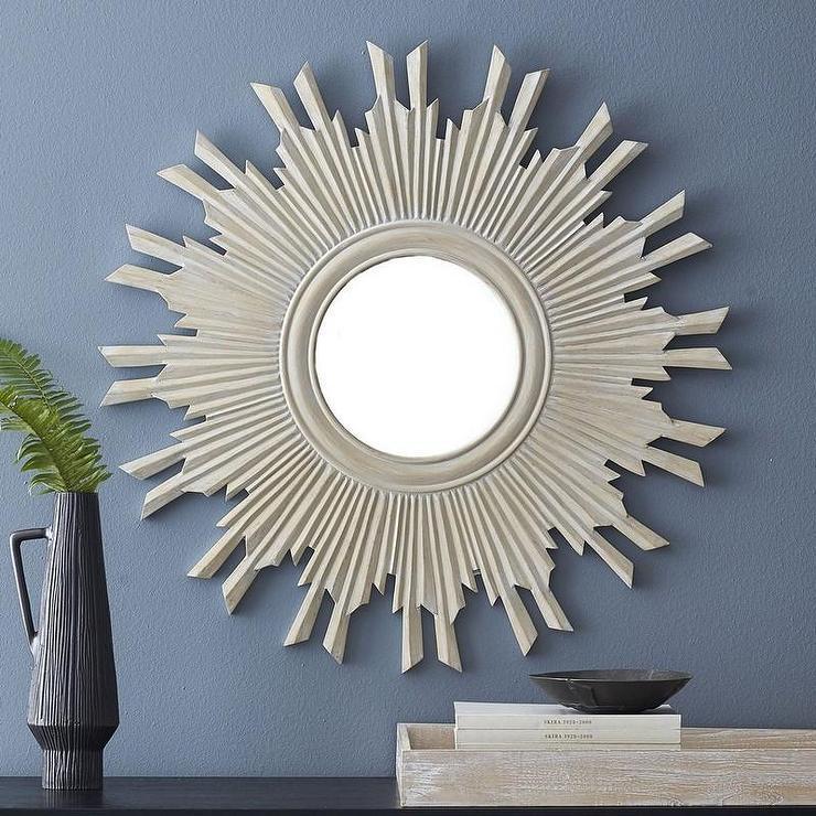 Nautical Round Tan Wood Mirrors