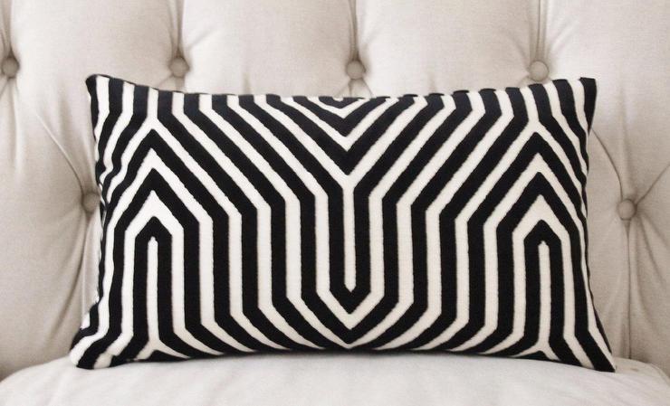 mary mcdonald black white velvet maze