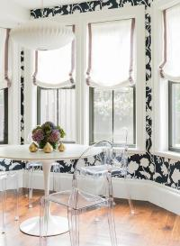Dining Room Bay Window with Glass Bubbles Chandelier ...