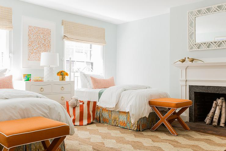 Layla Grayce Painted Vintage Jane Iron Bed Transitional