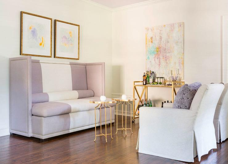 yellow and gray accent chair wooden office chairs on wheels purple living room design ideas