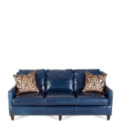 Faux Leather Chesterfield Sofa Steel Pipe Design Upholstered W Button Tufted Back, Velour Trim