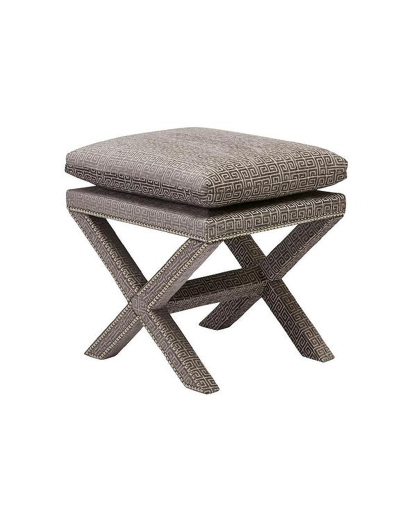 Z Gallerie Leather Ottoman