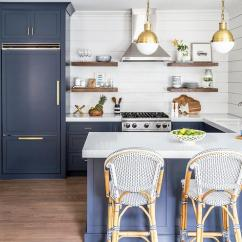 Kitchen Island With Sink And Stove Top New Kitchens Blue Subway Tiles - Contemporary Anne Chessin ...