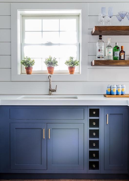 Windowsill with Terracotta Herb Pots  Transitional  Kitchen