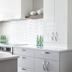 Upper Kitchen Cabinets With Glass Doors Faucet Pull Out White Wood Floating Shelves - Contemporary ...