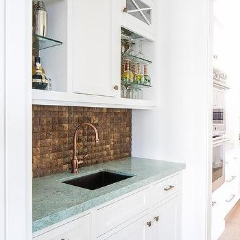 copper wet bar sink design ideas