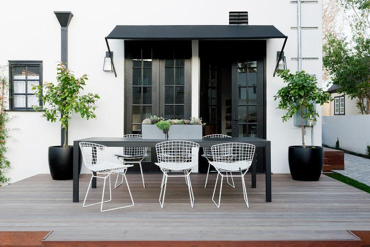 long black parsons outdoor dining table