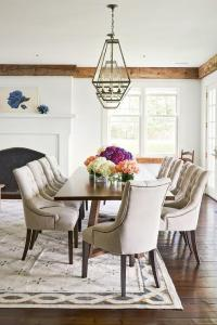 Dark Stained Crown Moldings Design Ideas