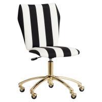 Emily Meritt Airgo Black White Stripe Chair