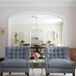 Blue Accent Chairs For Living Room Pics Of Rooms With Area Rugs Steel Design Ideas Elegant Features Two Placed On A Gray Rug Either Side Round Acrylic Table