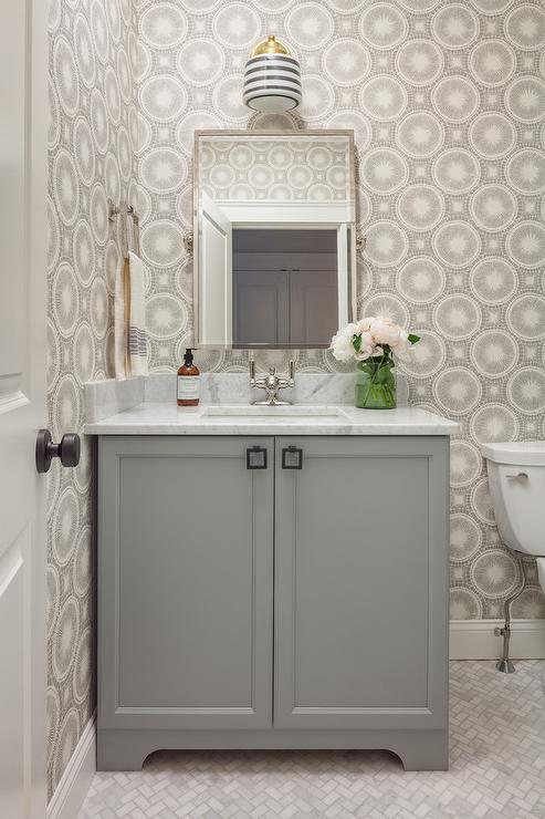Gray Bathroom Cabinets  Transitional  bathroom  Para