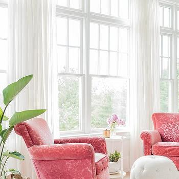 bedroom chair pink velvet baby target chairs design ideas embroidered with white sheepskin rug