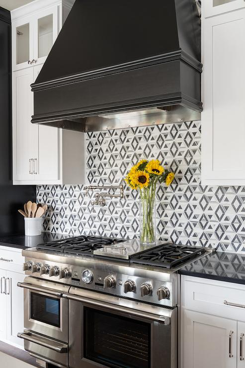 Black And White Kitchen Colors Transitional Kitchen