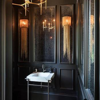 Powder Room Chandelier Design Ideas