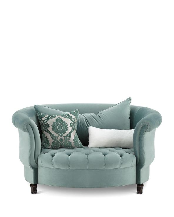 Teal Tufted Chair