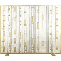 Meridian Quatrefoil Gold Fireplace Screen