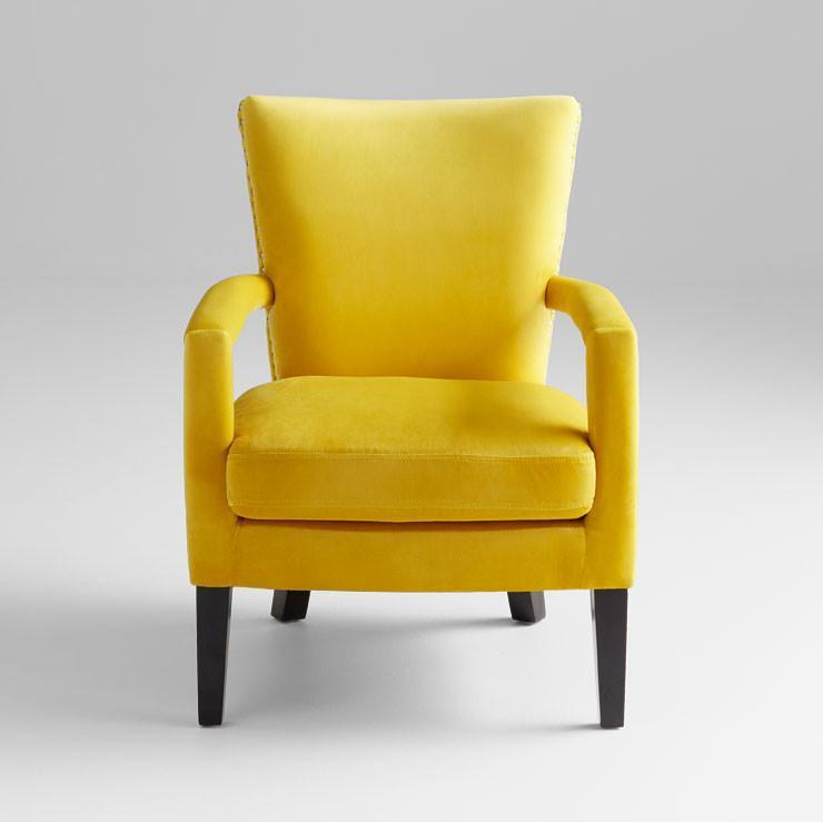 Mustard Yellow Velvet Side Chair