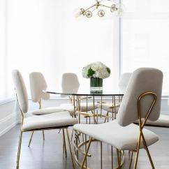 White And Gold Chair Etsy High Covers Glass Brass Oval Dining Table With Chairs