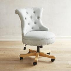 Tufted Desk Chair Baby Shower Couch White Leather Button Office