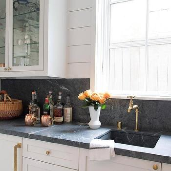 soapstone kitchen cream colored appliances countertops design ideas counters with shiplap backsplash