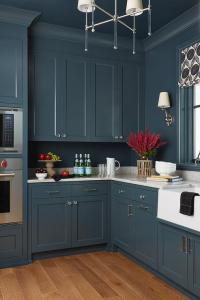 Blue Glass Tile Backsplash - Contemporary - kitchen - HGTV
