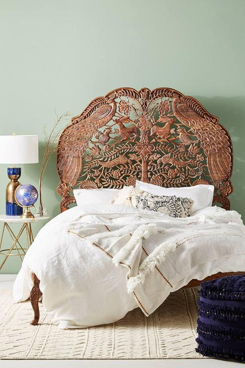 Natural Handcarved Woodland Bed