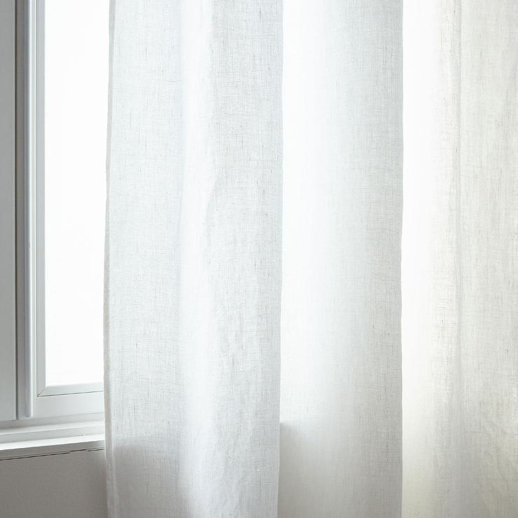 Zara Home Light Blue Sheer Linen Curtain