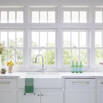 windows above kitchen sink design ideas