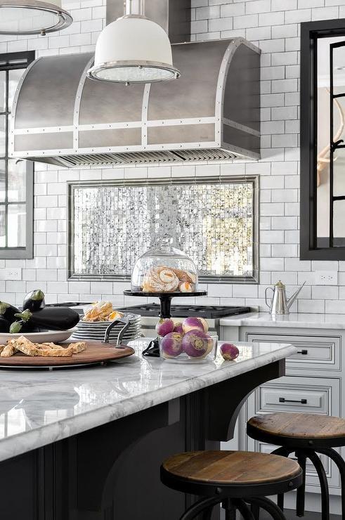 Mirrored Subway Tiles Design Ideas