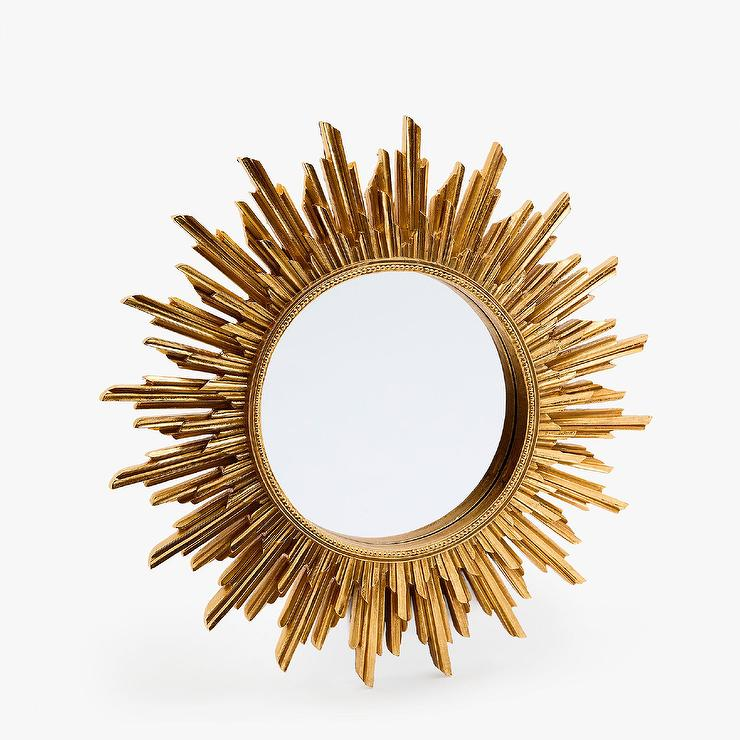 Sun Ray Antique Gold Mirror
