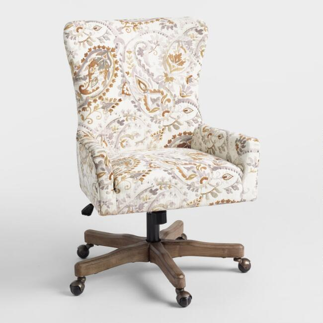 Navy Print Accent Chair